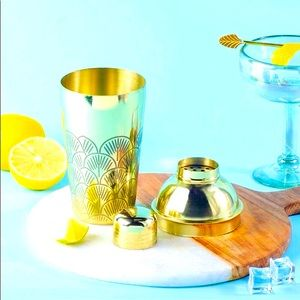 NWOT RARE GOLD COCKTAIL MIXER Shaker from India